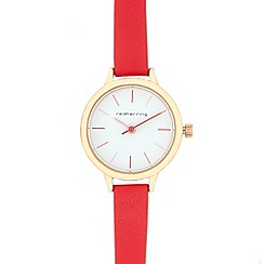 Red Herring - Red skinny analogue watch