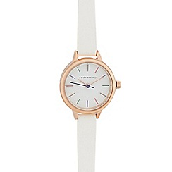 Red Herring - White skinny analogue watch