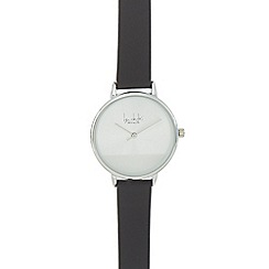 Principles - Black leather strap watch