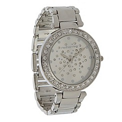 Red Herring - Ladies silver scattered diamante dial watch