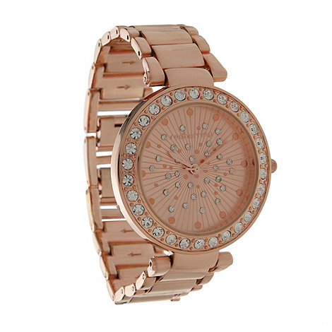 Red Herring - Ladies rose scattered stone dial watch