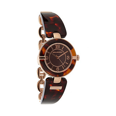 RJR.John Rocha - Designer ladies brown tortoiseshell lugs watch