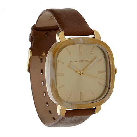 RJR.John Rocha - Designer ladies tan marbled case watch