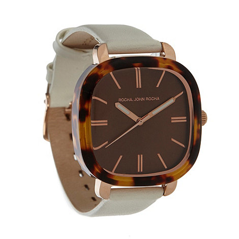 RJR.John Rocha - Designer ladies cream tortoiseshell case watch