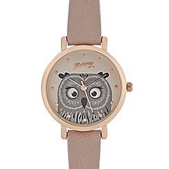Mantaray - Ladies pink owl analogue watch