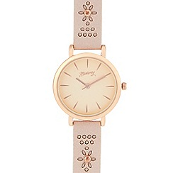 Mantaray - Ladies' pale pink floral analogue watch