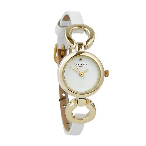 Infinite - Ladies white chain lugs watch
