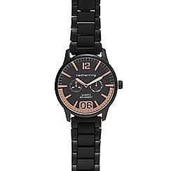 Red Herring - Men's black linked analogue watch