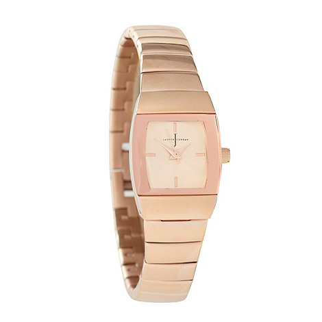J by Jasper Conran - Ladies rose tonneau watch