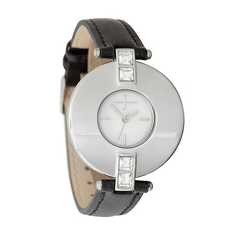 J by Jasper Conran - Ladies black enamel bezel watch