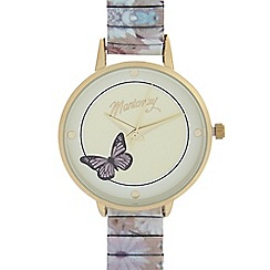 Mantaray - Ladies multi-coloured butterfly analogue watch
