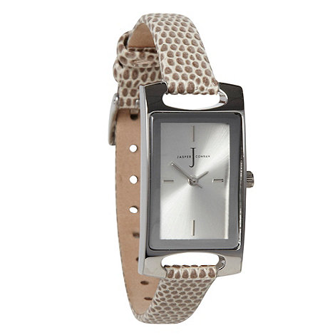J by Jasper Conran - Ladies natural rectangle watch