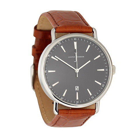 J by Jasper Conran - Men+s tan +heritage+ leather wrist watch