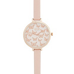 Floozie by Frost French - Ladies' pink butterfly analogue watch
