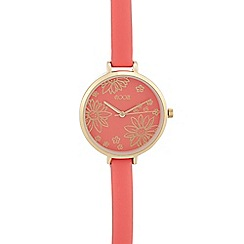 Floozie by Frost French - Ladies' dark pink floral analogue watch