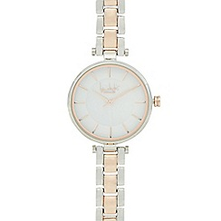 Principles by Ben de Lisi - Ladies silver and rose gold t-bar bracelet watch
