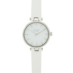 Principles by Ben de Lisi - White silver toned analogue watch