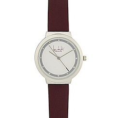 Principles by Ben de Lisi - Ladies dark red diamante watch