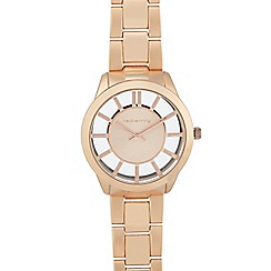 Red Herring - Ladies gold transparent dial watch