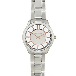 Red Herring - Ladies silver transparent dial watch