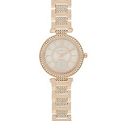 Red Herring - Ladies gold crystal bezel watch