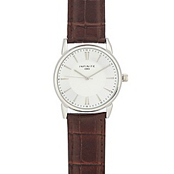 Infinite - Men's brown analogue watch