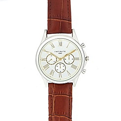 Infinite - Men's brown roman numeral analogue watch