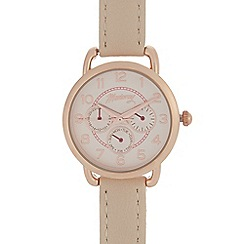 Mantaray - Cream round mock multi-dial watch