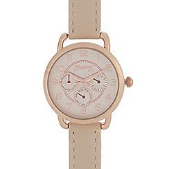 Mantaray - Brown round mock multi-dial watch