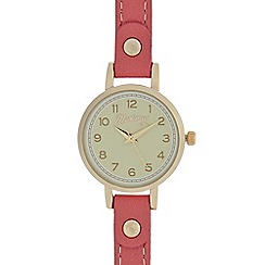 Mantaray - Ladies red round analogue watch