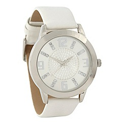 Red Herring - Ladies white pavi dial watch