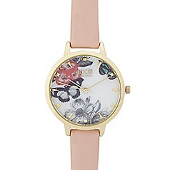 Floozie by Frost French - Ladies Light pink butterfly dial watch