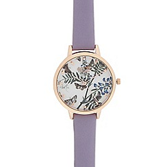 Floozie by Frost French - Ladies lilac butterfly dial watch