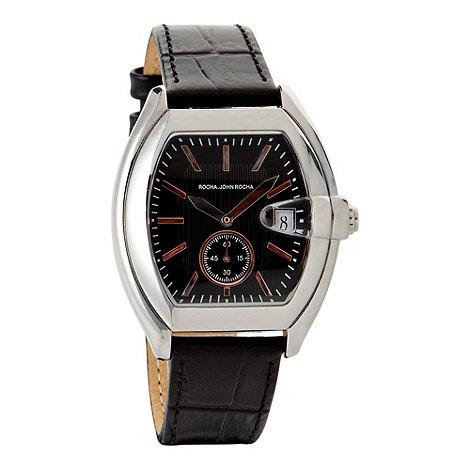RJR.John Rocha - Men+s black +tono+ bubble watch