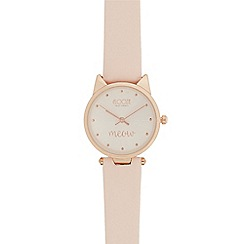 Floozie by Frost French - Ladies light pink cat case watch