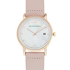 RJR.John Rocha - Ladies' light pink mother of pearl dial analogue watch