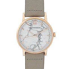 RJR.John Rocha - Ladies' light grey marbel analogue watch