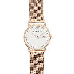RJR.John Rocha - Ladies' rose gold mesh analogue watch