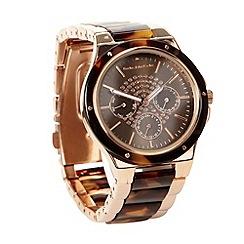 RJR.John Rocha - Designer ladies brown marbled bracelet strap watch