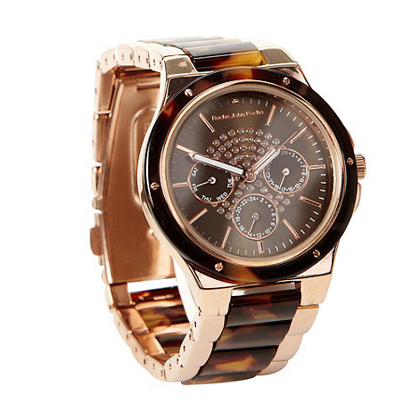 RJR.John Rocha - Designer ladies brown marbled bracelet strap watch