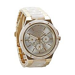 RJR.John Rocha - Designer ladies cream marble links watch