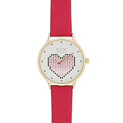 Floozie by Frost French - Ladies pink heart watch