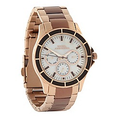RJR.John Rocha - Ladies bronze enamel bezelled multi function dial watch