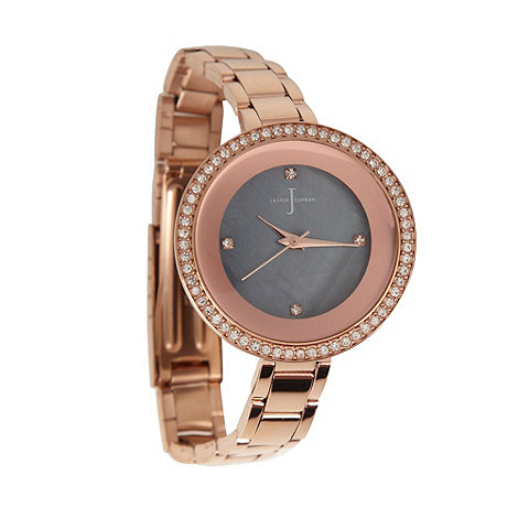 J by Jasper Conran - Ladies rose stone bezel watch