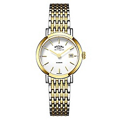 Rotary - Ladies silver and gold 'windsor' quartz bracelet watch