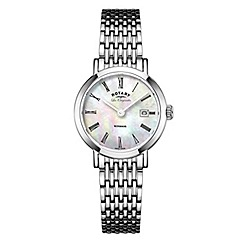 Rotary - Ladies silver 'windsor' quartz bracelet watch