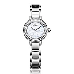 Rotary - Ladies silver quartz bracelet watch