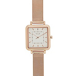Floozie by Frost French - Ladies gold plated square mesh strap watch