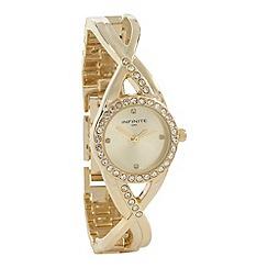Infinite - Ladies gold crossover lug watch