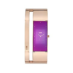 STORM London - Ladies rose gold and purple alvara watch